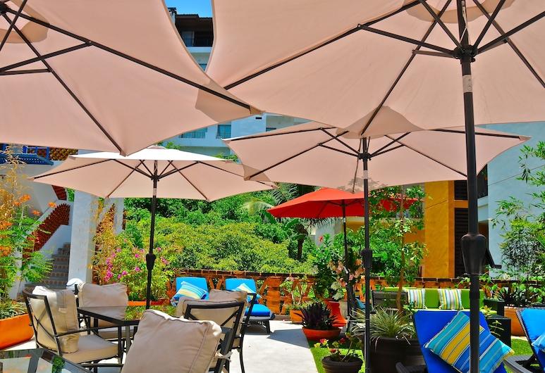 Villa Mercedes Petit Hotel, Puerto Valjarta, Terasa / vidinis kiemas