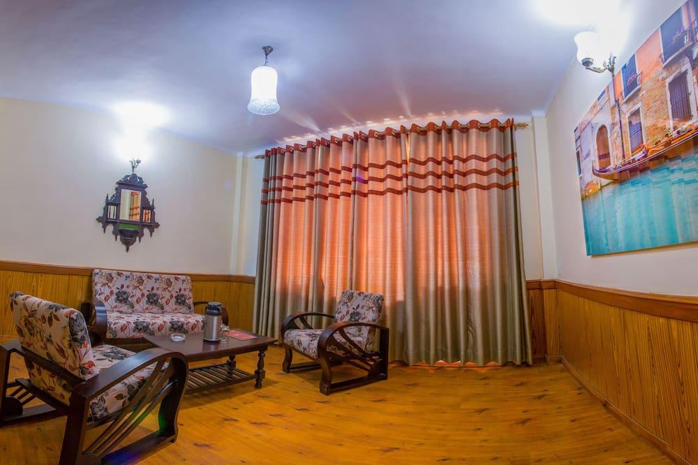 Klassieke suite, 1 tweepersoonsbed, uitzicht op tuin - Woonruimte