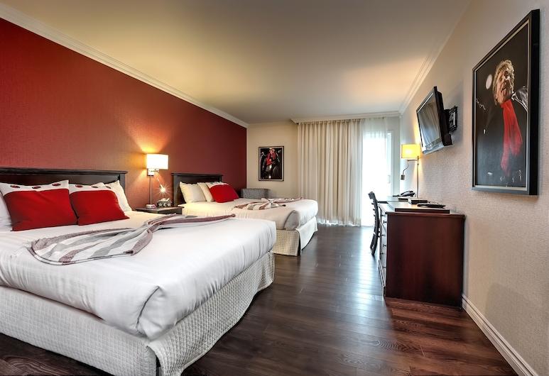 Hotel Kennedy, Levis, Paaugstināta komforta numurs, 2 divguļamās karalienes gultas, nesmēķētājiem, pirmais stāvs, Viesu numurs
