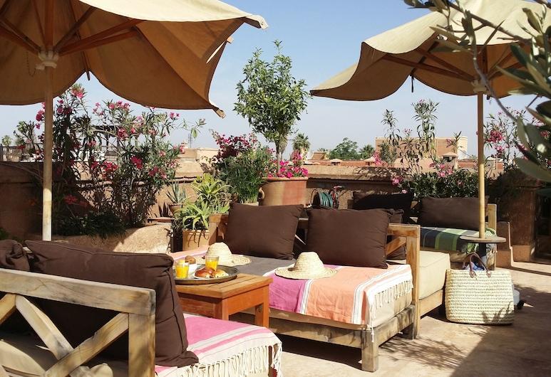 Riad Al Ksar & Spa, Marakešas, Terasa / vidinis kiemas