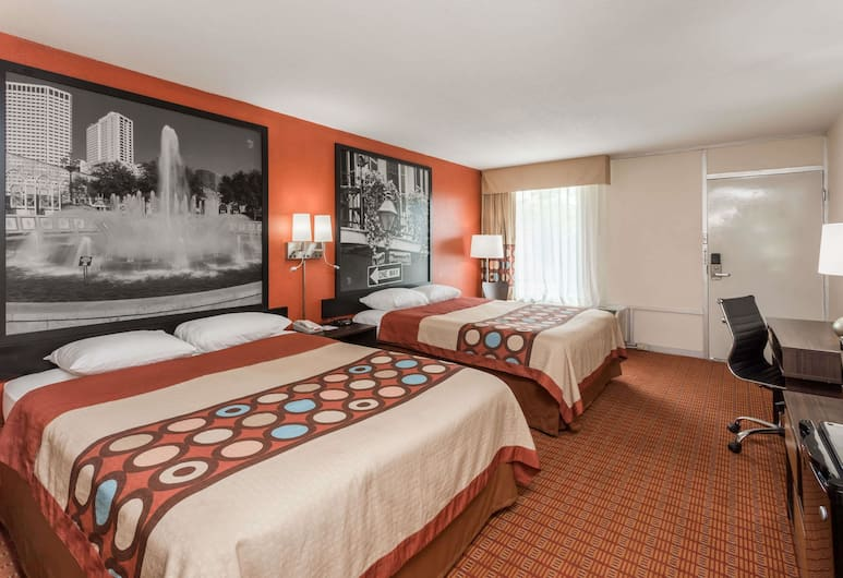 Super 8 by Wyndham Baton Rouge/I-10, Baton Rouge, Standard Double Room, 2 Double Beds, Smoking, Guest Room