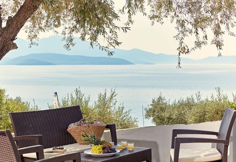 Leda Village Resort, Notio Pilio, Apartament, 2 sypialnie, widok na morze, Taras/patio