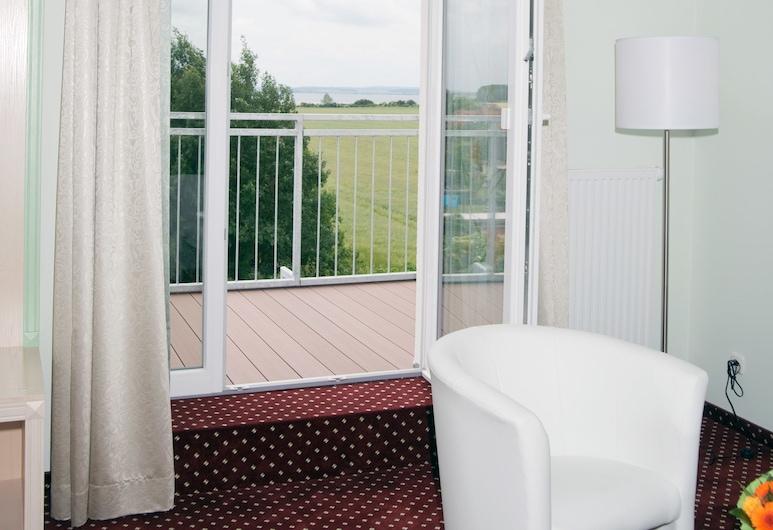 Hotel Schäfereck, Blowatz, Suite panorámica, 1 cama doble, balcón, vista al mar, Balcón