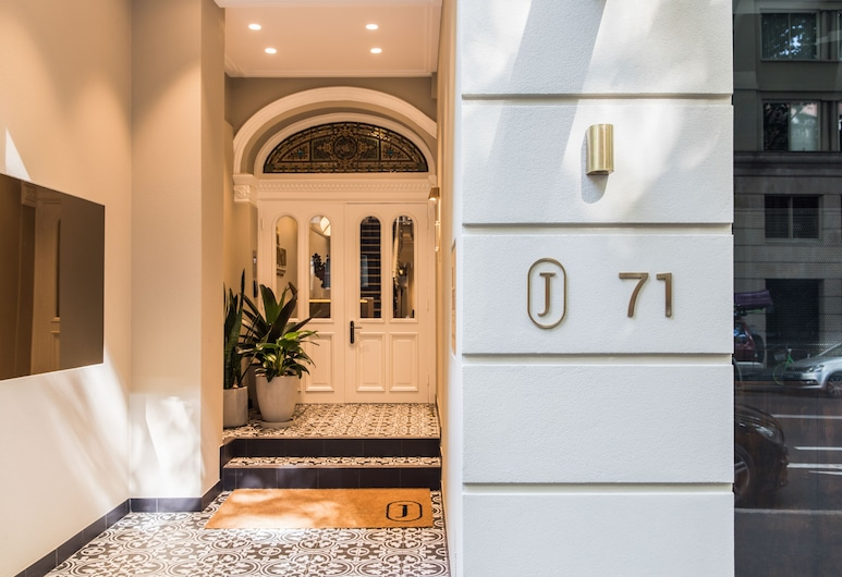 The Jensen Potts Point, Potts Point, Entrada del hotel