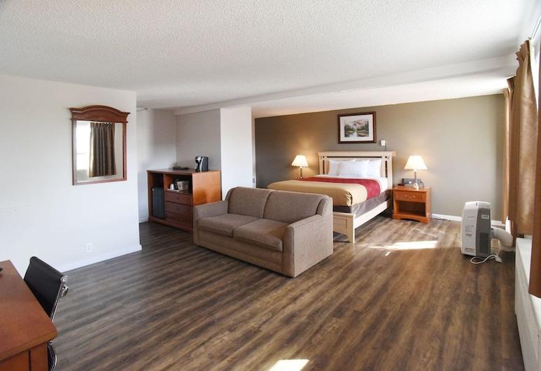 Econo Lodge Inn & Suites, Drumheller, Štandardná izba, 1 veľké dvojlôžko s rozkladacou sedačkou, nefajčiarska izba, Hosťovská izba