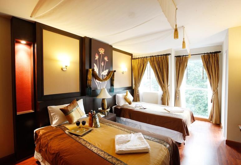 미스 사톤 호텔, 방콕, 디럭스 트윈룸, 싱글침대 2개, 객실