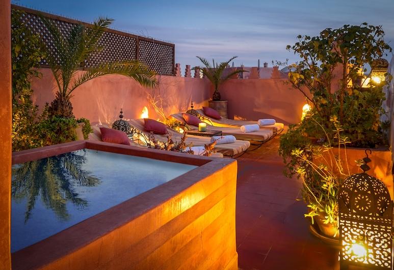 Riad Sable Chaud, Marrakech, Piscina no Terraço