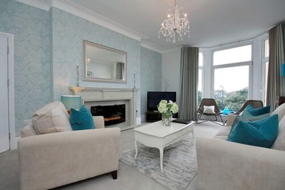 Apartmán typu Superior, 2 spálne, 2 kúpeľne, výhľad na more - Obývačka