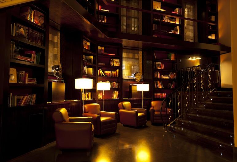 Hotel Boutique Gareus, Valladolid, Sittområde i lobbyn