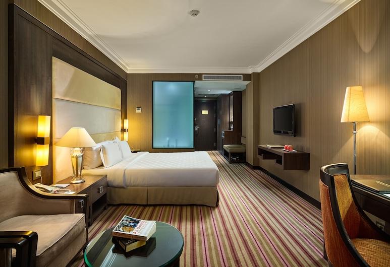 Silk Path Hotel Hanoi, Hanojus, Kambarys verslo klientams (1 dvigulė / 2 viengulės lovos), vaizdas į miestą (Premium), Svečių kambarys