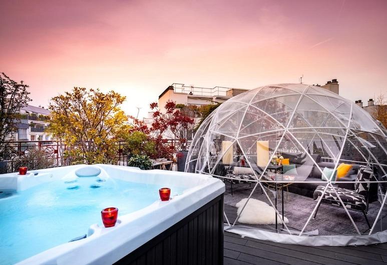 Hotel Félicien by Elegancia, Παρίσι, Σουίτα, Βεράντα (Silver Suite Balneo), Αίθριο/βεράντα