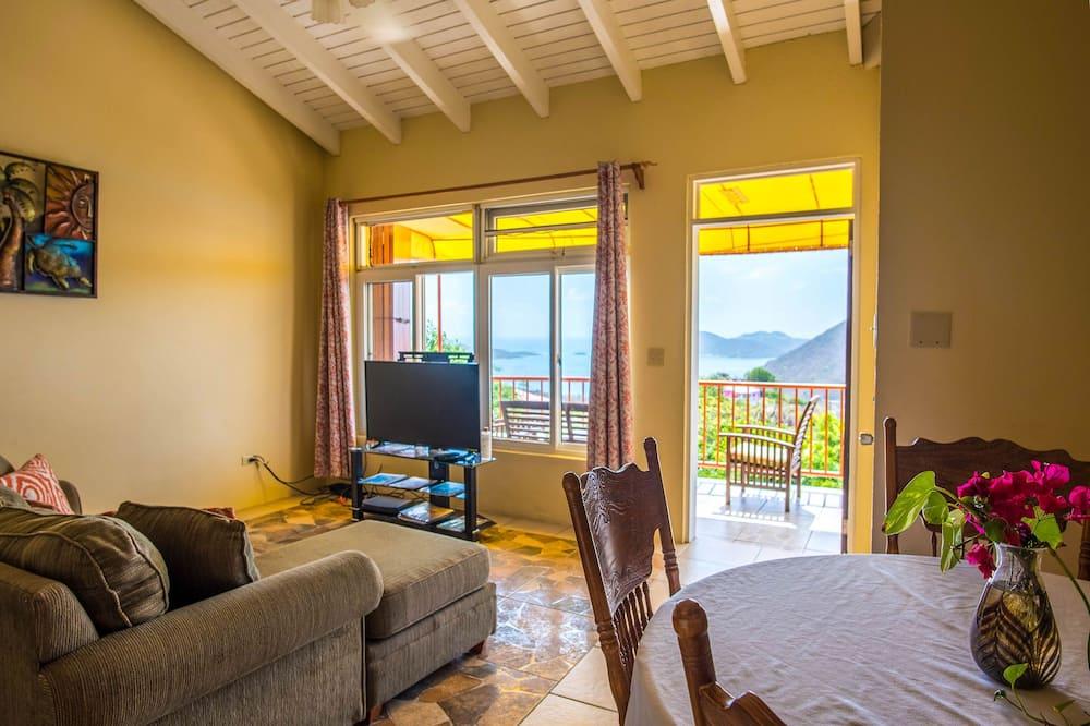Byt s panoramatickým výhľadom - Obývacie priestory