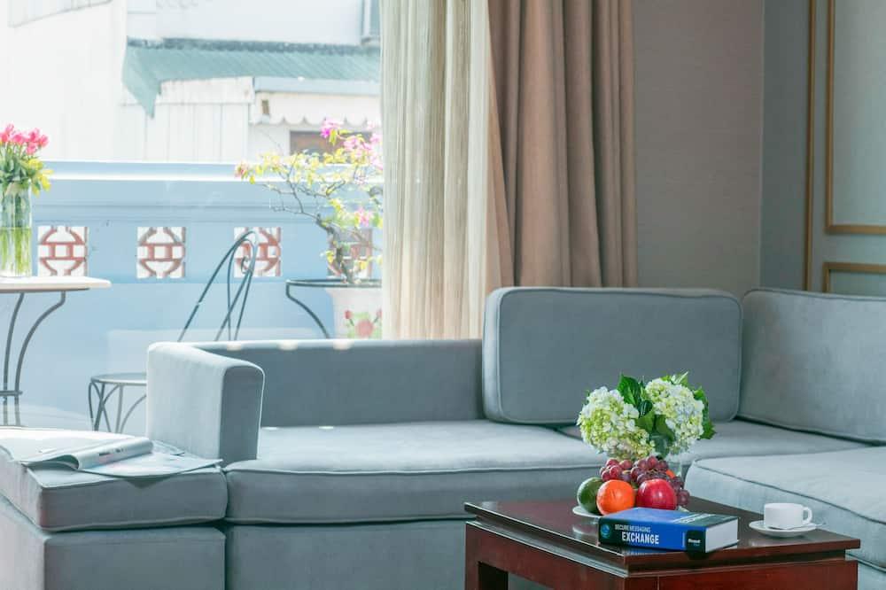 Luxury-Doppelzimmer, 1 Schlafzimmer - Wohnbereich