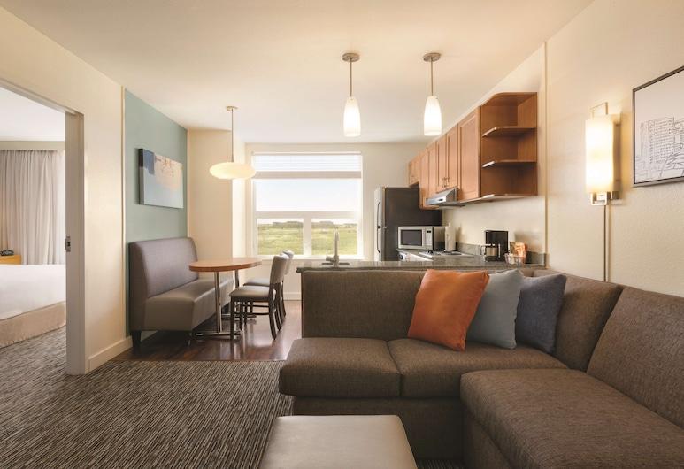 HYATT house Denver Airport, Denver, Apartmán, 1 spálňa, bezbariérová izba, vaňa, Obývacie priestory