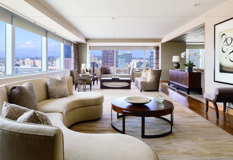 The Ritz-Carlton, Los Angeles, Los Angeles, Executive suite, 1 kingsize bed, Toegang tot business lounge, Binnenkant hotel