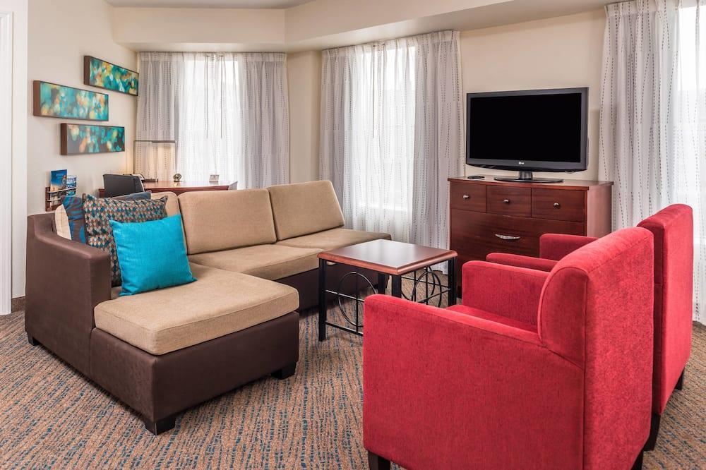Apartmán typu Executive, 2 spálne, nefajčiarska izba, výhľad na park - Obývacie priestory