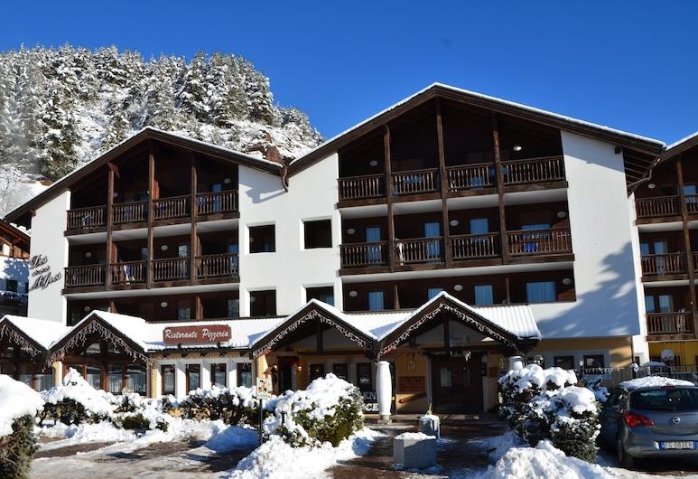 Aparthotel Des Alpes, Cavalese, Vista frontal de la propiedad