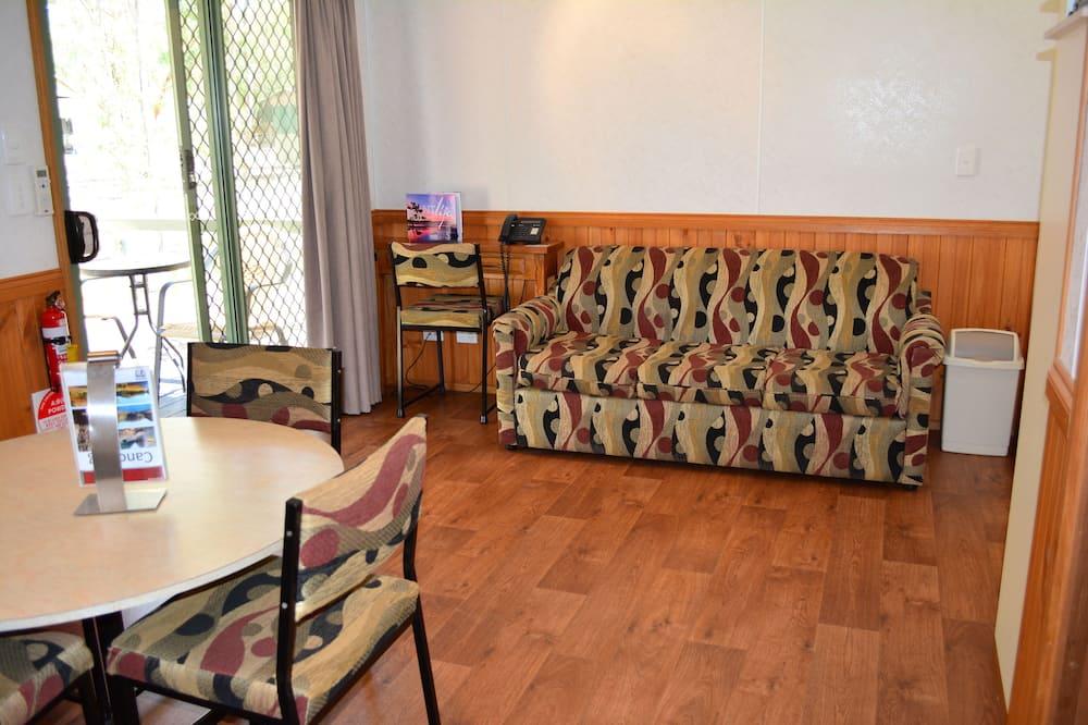 Chalet, 1 chambre, coin cuisine - Vue depuis le balcon