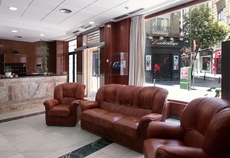 Hotel Madrisol, Madrid, Sitzecke in der Lobby