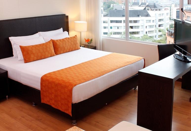 Estelar Apartamentos Medellin, Medellín, Apartamento superior, 1 cama de matrimonio con sofá cama, Habitación