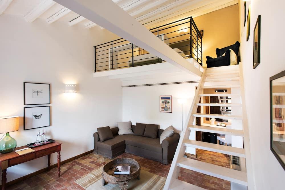 豪華雙人房, 1 張特大雙人床, 獨立浴室, 山谷景觀 - 客廳