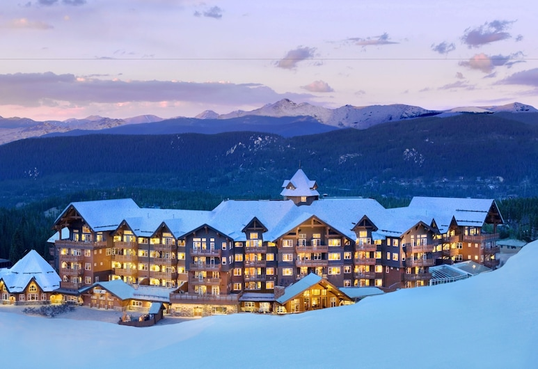 One Ski Hill Place, A RockResort, Breckenridge, Hotel Front – Evening/Night