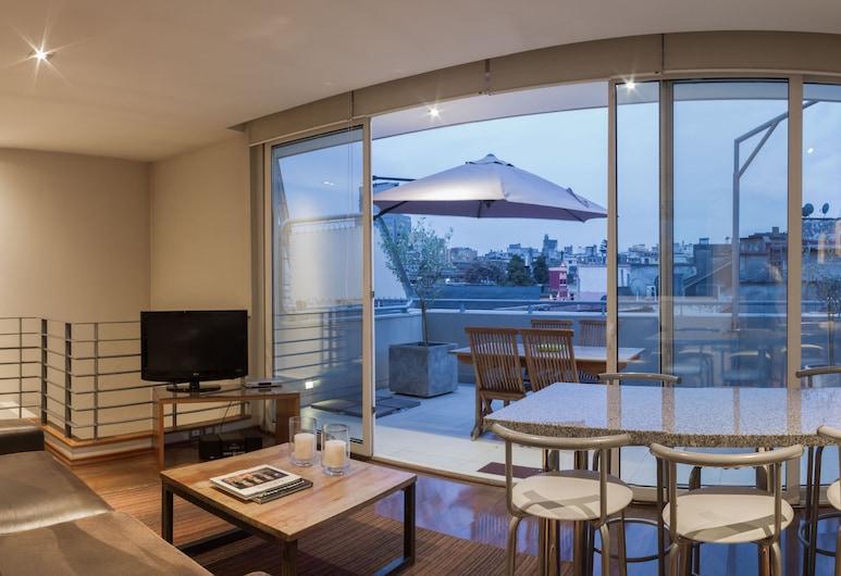 Lastarria Hotel & Aparts, Santiago, Dvojposchodový apartmán typu Superior, Obývacie priestory