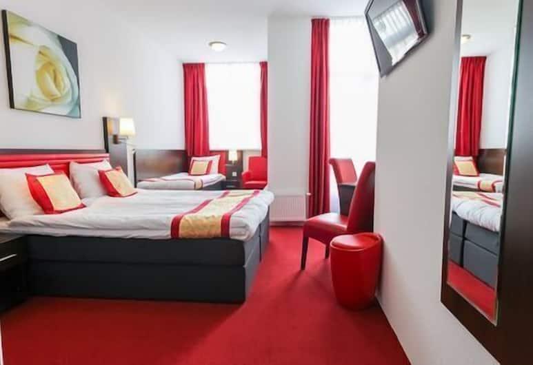 호텔 알루레, 암스테르담, 트리플룸, 발코니, 정원 전망, 객실