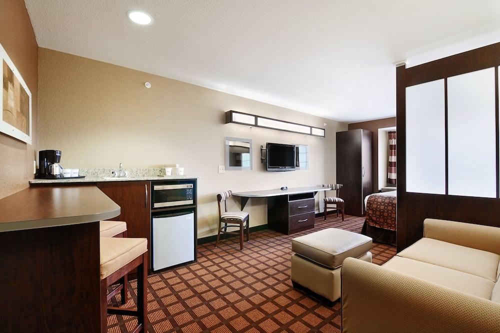Štúdiový apartmán, 1 veľké dvojlôžko, nefajčiarska izba - Obývacie priestory