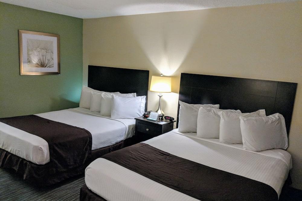 客房, 2 張標準雙人床, 吸煙房, 冰箱和微波爐 - 客房