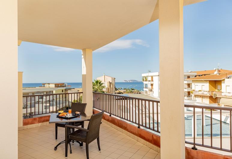 Hotel Villa Piras, Alghero, Izba typu Superior s dvojlôžkom alebo oddelenými lôžkami, výhľad na more, Hosťovská izba