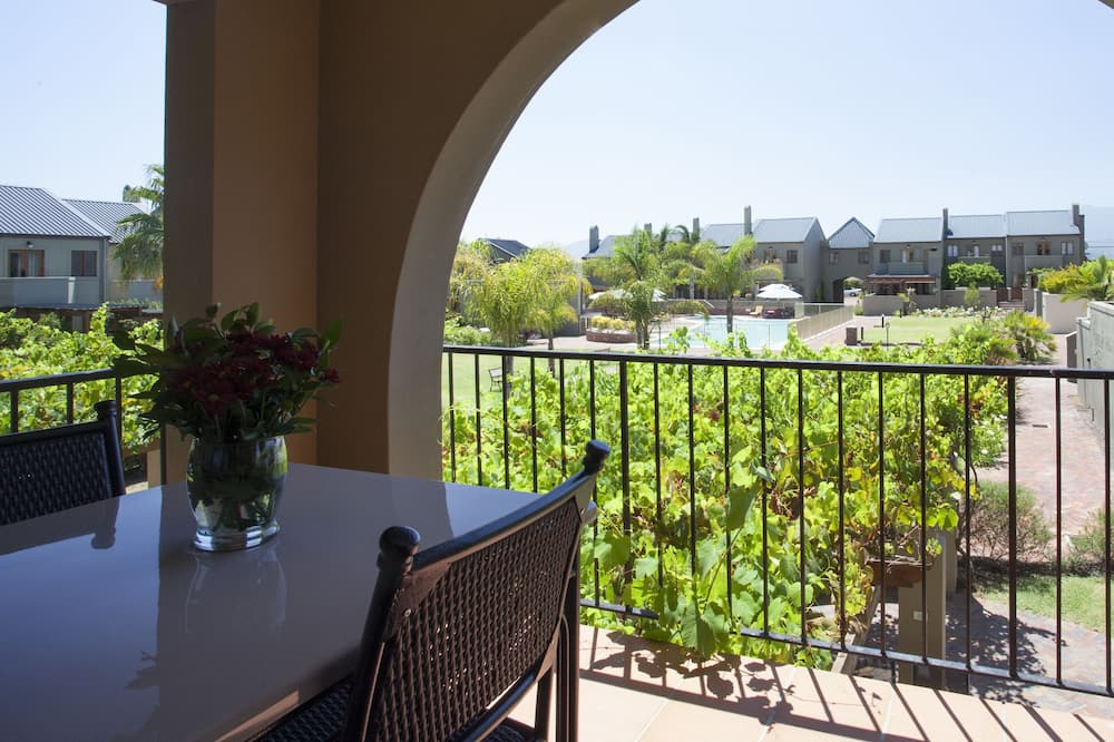 Standard-Apartment, 2Schlafzimmer, Balkon, zum Garten hin - Balkon
