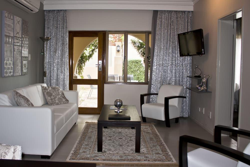 Apartment, 2Schlafzimmer, zum Garten hin - Wohnbereich