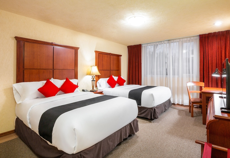 Capital O Quinta del Rey Express, Toluca, Standard Room, 2 Double Beds, Guest Room