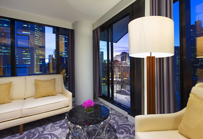 Sheraton Melbourne Hotel, Melbourne, Suite, 1 Bedroom, Terrace, City View, Guest Room