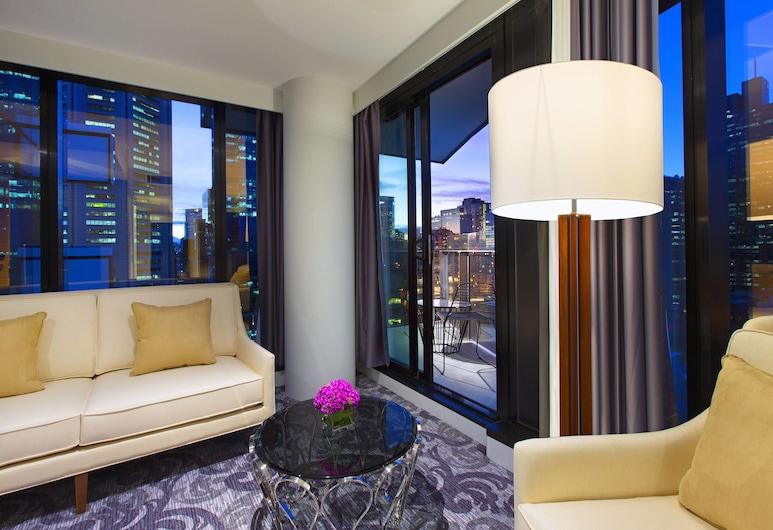 Sheraton Melbourne Hotel, Melbourne, Suíte, 1 quarto, Terraço, Vista para a cidade, Quarto