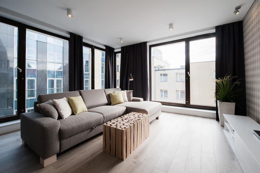 Apartament Deluxe, 1 sypialnia dla 4 osób - Salon