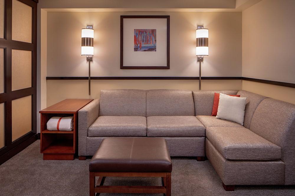 Habitación estándar, 1 cama King size, vista a la ciudad - Sala de estar