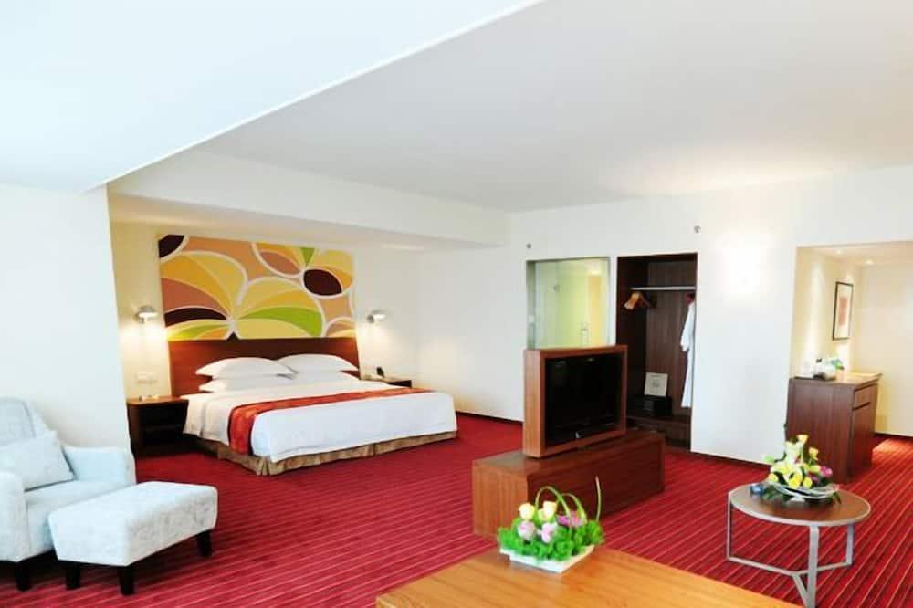 開放式套房, 1 張特大雙人床, 吸煙房 - 客廳