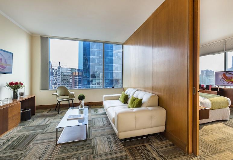 Best Western Premier Marina Las Condes, Santiago, Suite - 1 kingsize-seng - ikke-ryger - balkon (Living Room), Stue