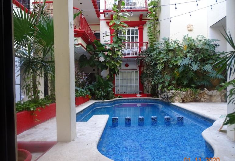 瑪雅藍綠飯店 - 離第 5 大道 50 公尺, 卡曼海灘, 游泳池