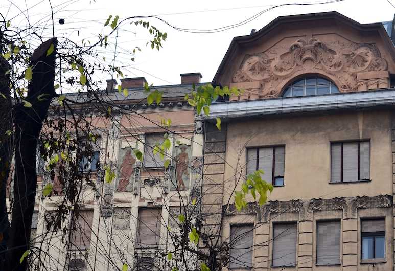 Central Avenue Apartments, Budapest, Fasaden på overnattingsstedet