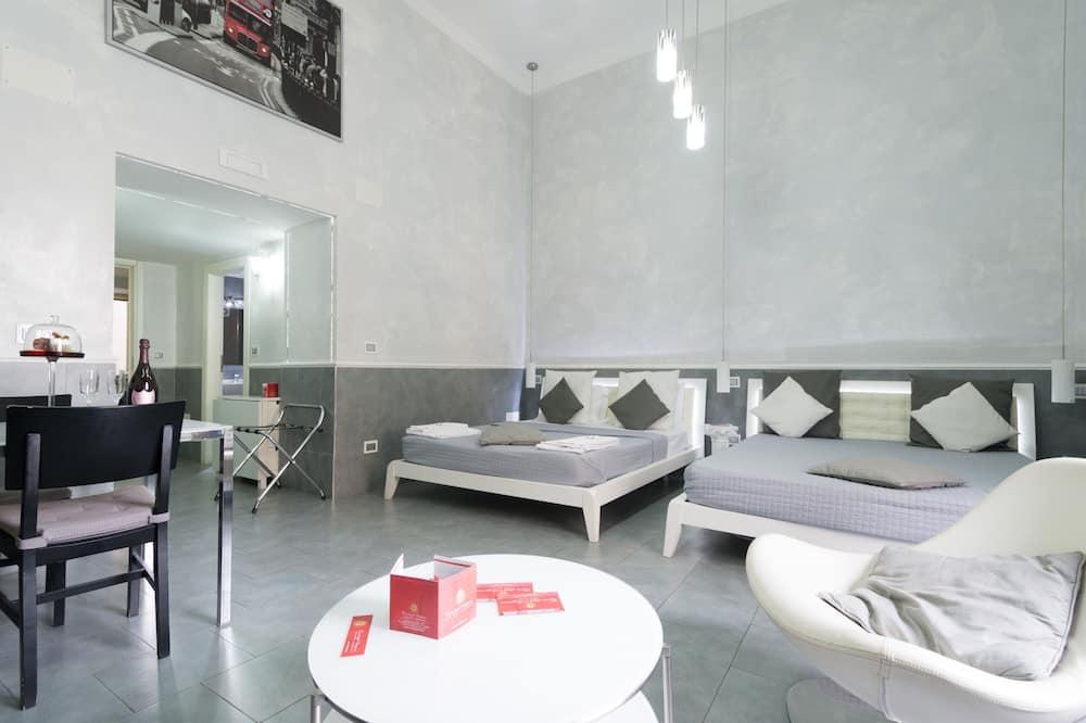 Family Apartment, Kitchen - Living Area