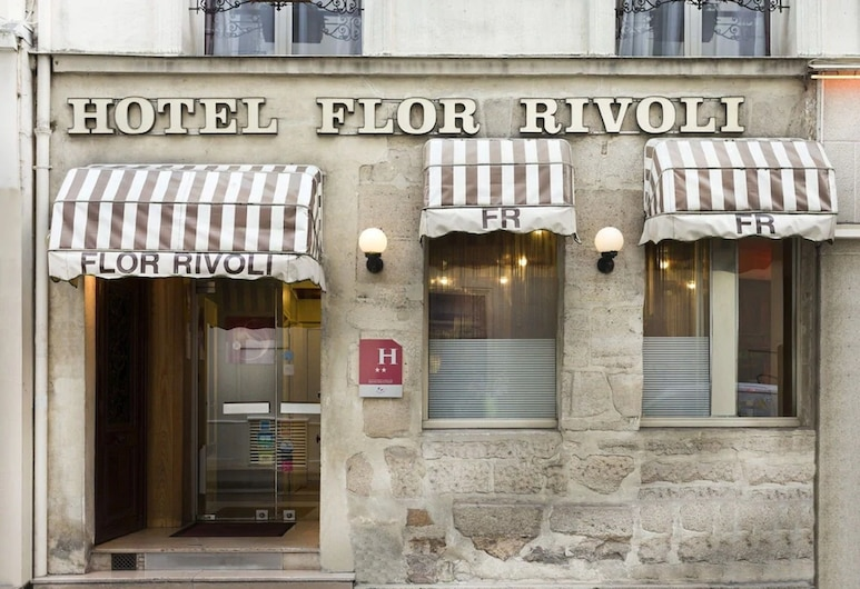 호텔 플로 리볼, 파리, 호텔 정면