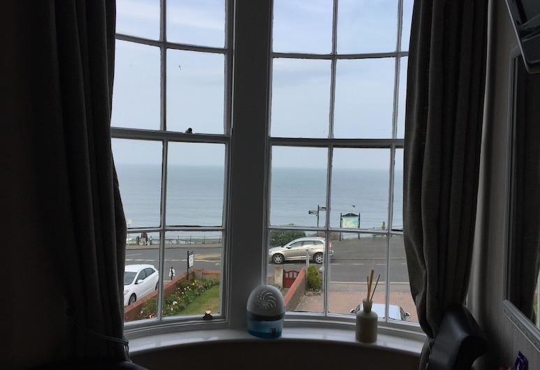 The Leeway, Scarborough, Pokój dwuosobowy, z łazienką, widok na morze, Pokój
