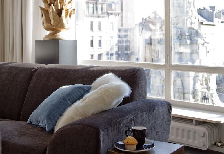 The Soul Antwerp, แอนท์เวิร์ป, อพาร์ทเมนท์, 1 ห้องนอน, ระเบียง (301), ห้องนั่งเล่น