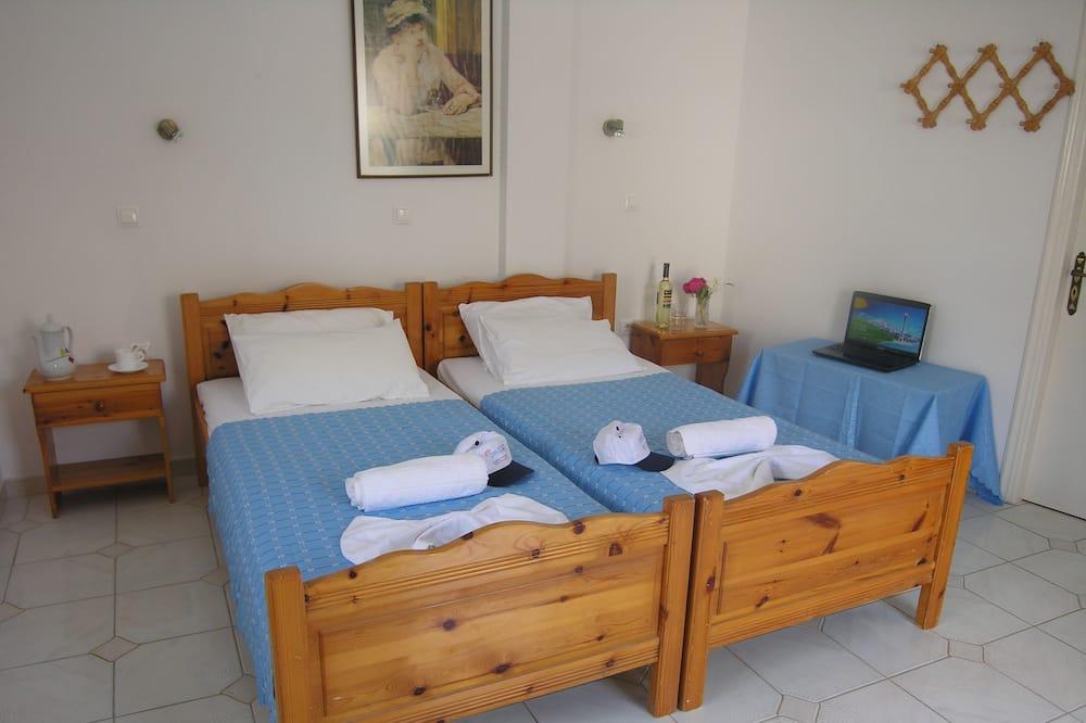 經濟開放式客房, 2 張單人床 - 陽台
