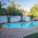 Suite, zum Garten hin - Ausblick vom Zimmer