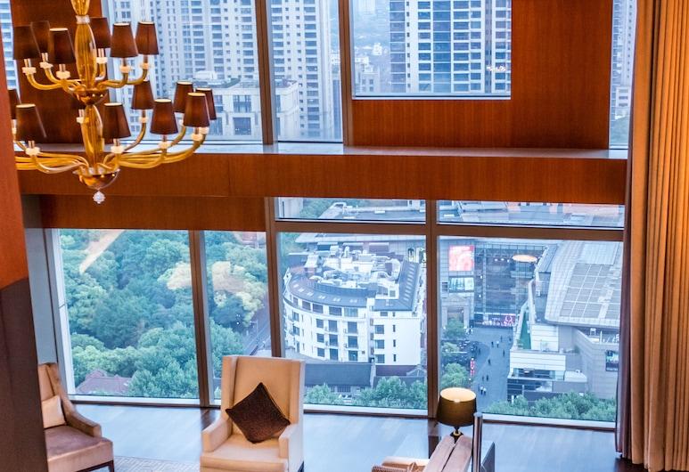 The Langham, Shanghai, Xintiandi, Shanghai, Suite (Chairman), Wohnzimmer