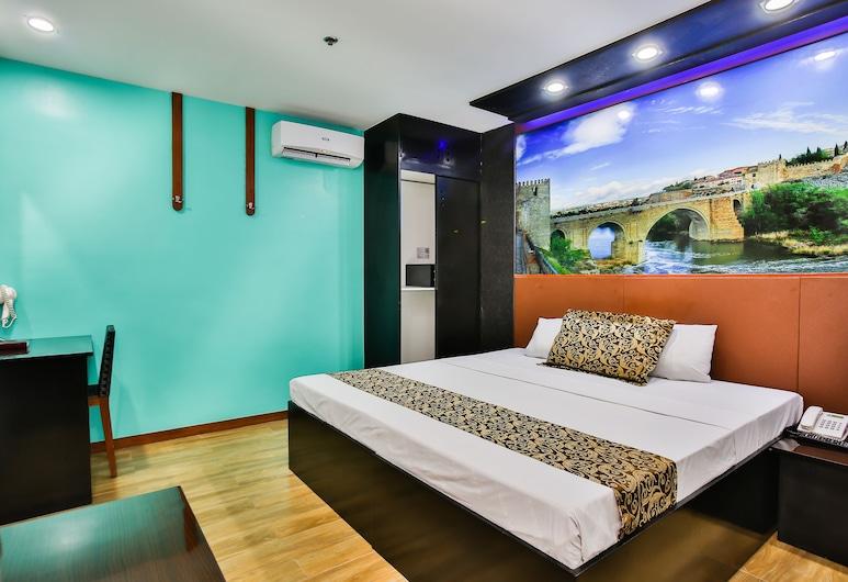 โรงแรมยูโรเทลเปโดร, มะนิลา, ห้องสแตนดาร์ด, เตียงควีนไซส์ 1 เตียง, ห้องพัก